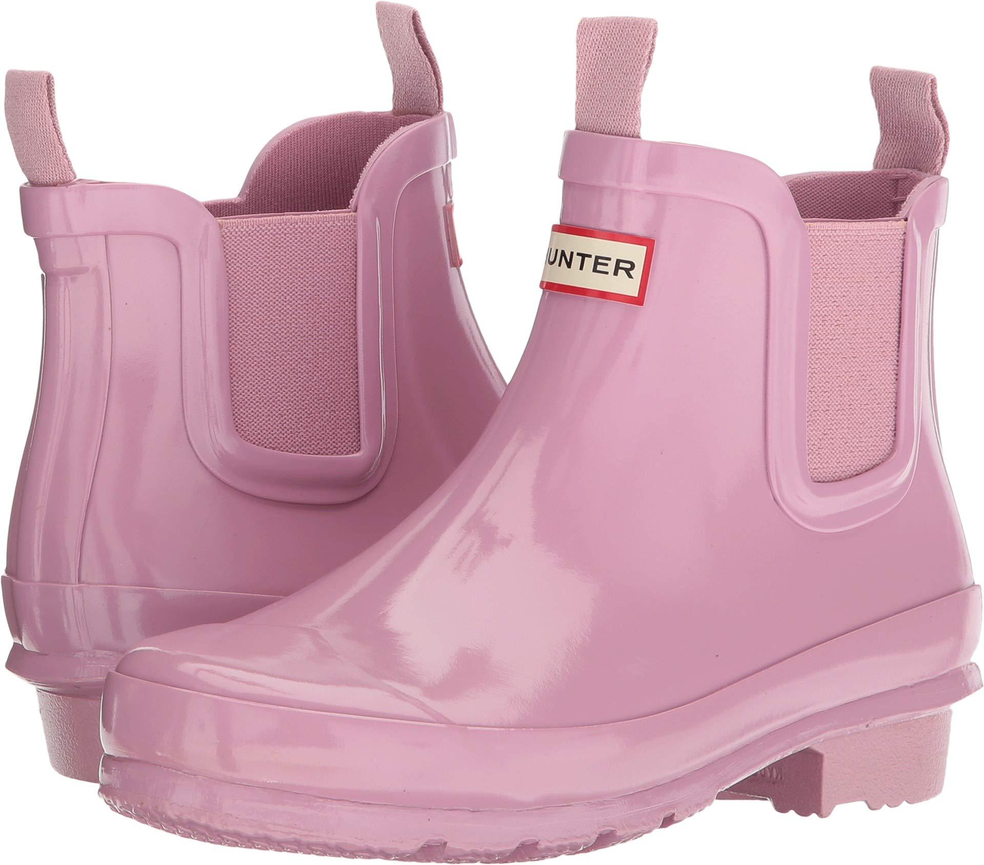 Hunter Kids Unisex Chelsea Gloss Rain Boots (Little Kid/Big Kid) Blossom 4 M US Big Kid