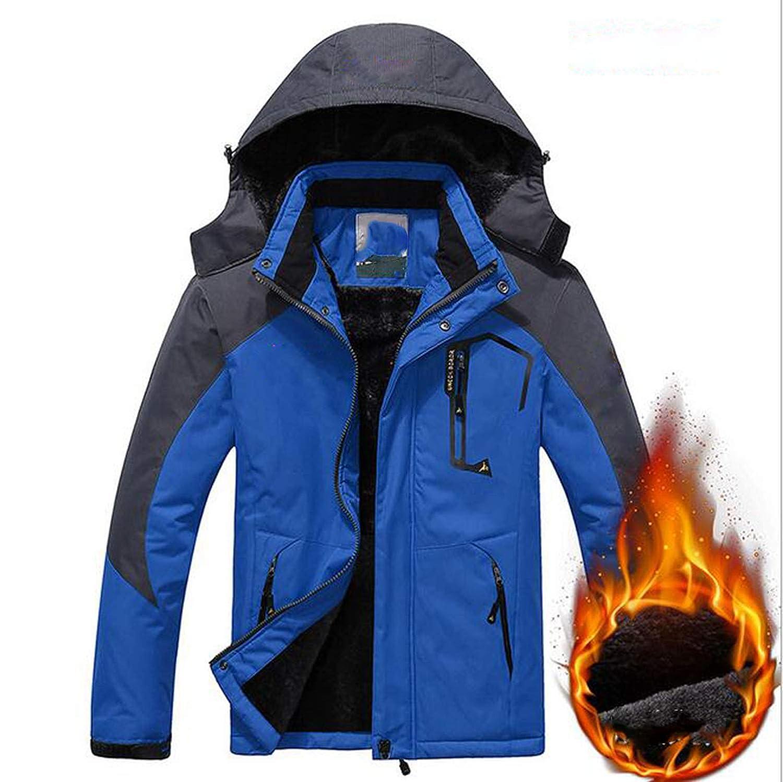 LNYF-OV Chaqueta de esquí, Ropa para de Invierno para Ropa montañismo a Prueba de Agua, Rompeviento, Cálido y de Terciopelo, Adulto Masculino, Azul cf5d5b