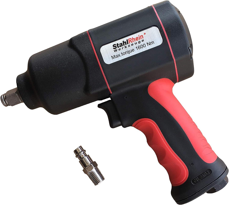 1//2, 1600 Nm StahlRhein Atornillador neum/ático de impacto profesional