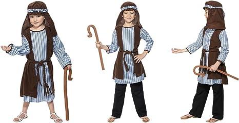 Fancy Dress World 33166 - Disfraz de Pastor de Navidad para niños ...