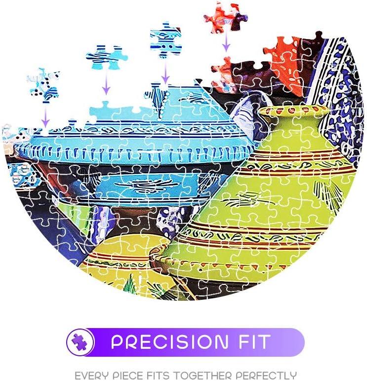 AceList Jigsaw Puzzle 500 Piece Colored Porcelain Bottle 500 Pcs 14.2 x 23.2 Puzzle Game Artwork for Adults Teens