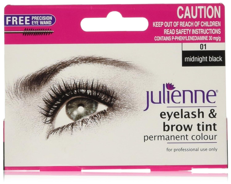 Julienne Eyelash and Eyebrow Permanent Midnight Black 01 Colour Tint 15ml Lee-Chem Laboratories JUL100