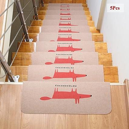 Attrayant Ozzptuu 5PCS Fox Pattern Carpet Stair Treads Step Mats Home Decor  Self Adhesive Anti