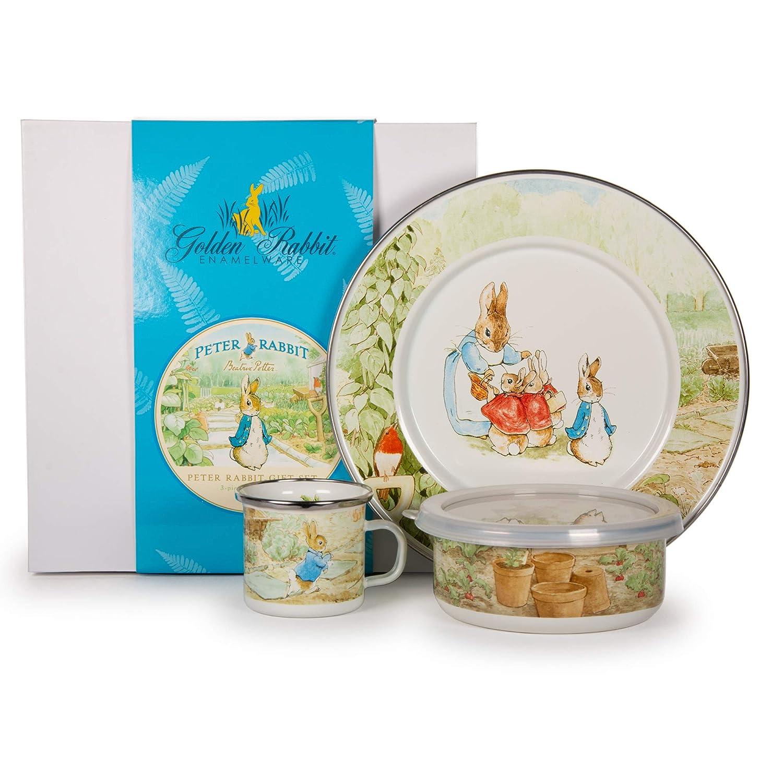 【正規販売店】 Enamelware – Peter Rabbitパターン B007HOVORA – Giftboxed Kids 3 Rabbitパターン Piece Giftboxed With 4オンスマグ、14オンスボウルと8â ½インチプレート B007HOVORA, じゅういちや:e59b3798 --- a0267596.xsph.ru