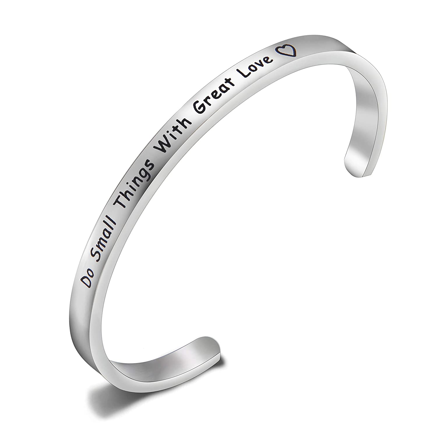 MAOFAED Religious Jewelry Do Small Things with Great Love Mother Teresa Social Worker Gift Scripture Bracelet Gift for Her