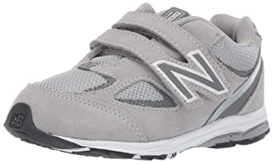 New Balance Girls' 888v2 Running Shoe, GreyRainbow, 4 M US Toddler