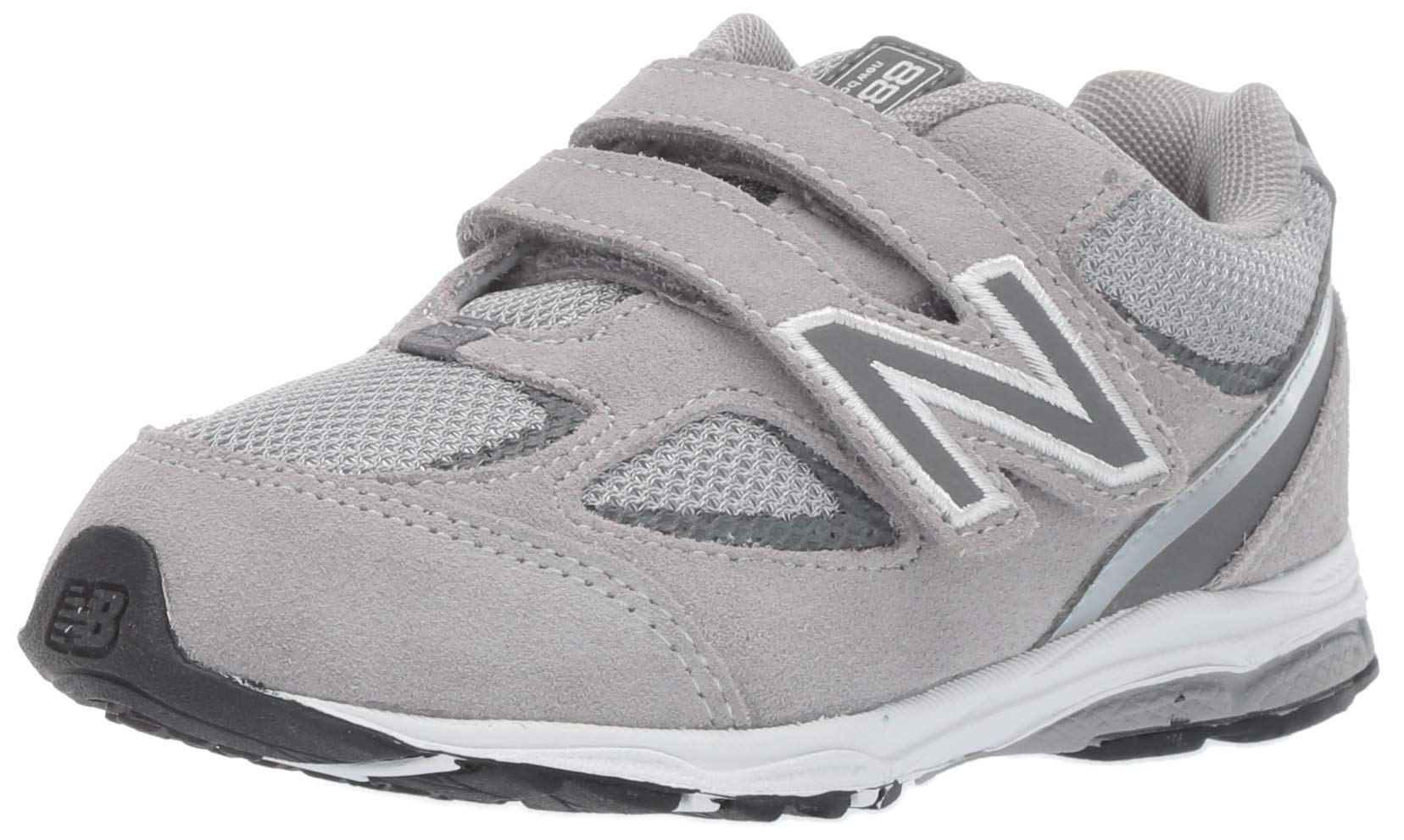 New Balance Boys' 888v2 Hook and Loop Running Shoe Grey, 2 M US Infant by New Balance (Image #1)
