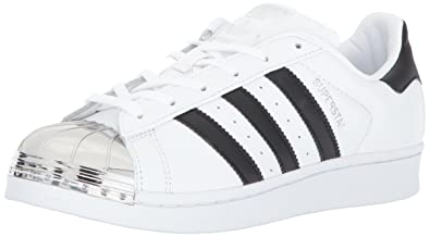 adidas Originals Women's Superstar Metal Toe W, Ftwwht/Cblack/Silvmt, 6.5  Medium