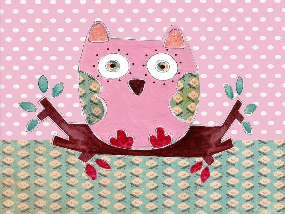 Owl A3 Placemat,Table Mats,Kids Table Mat,PVC Mat