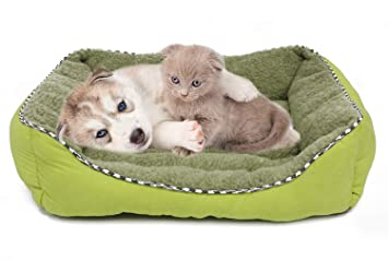 BPS Cama Colchoneta Cuna Portatil para Perros Gatos Colchón Manta Sofá Almohada Mascotas Suave 3 Tamaños