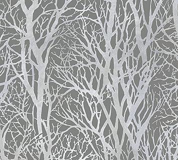 A.S. Création Vliestapete Life 4 Tapete Floral Natürlich 10,05 M X 0,53 M  Grau Metallic Made In Germany 300943 30094 3: Amazon.de: Baumarkt