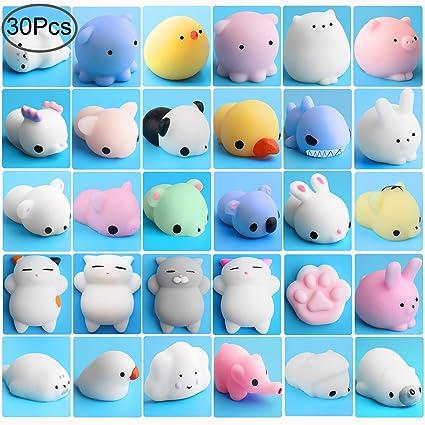 Amazon Com Outee Mochi Animals Stress Toys Xmas Gift 30 Pcs Mochi