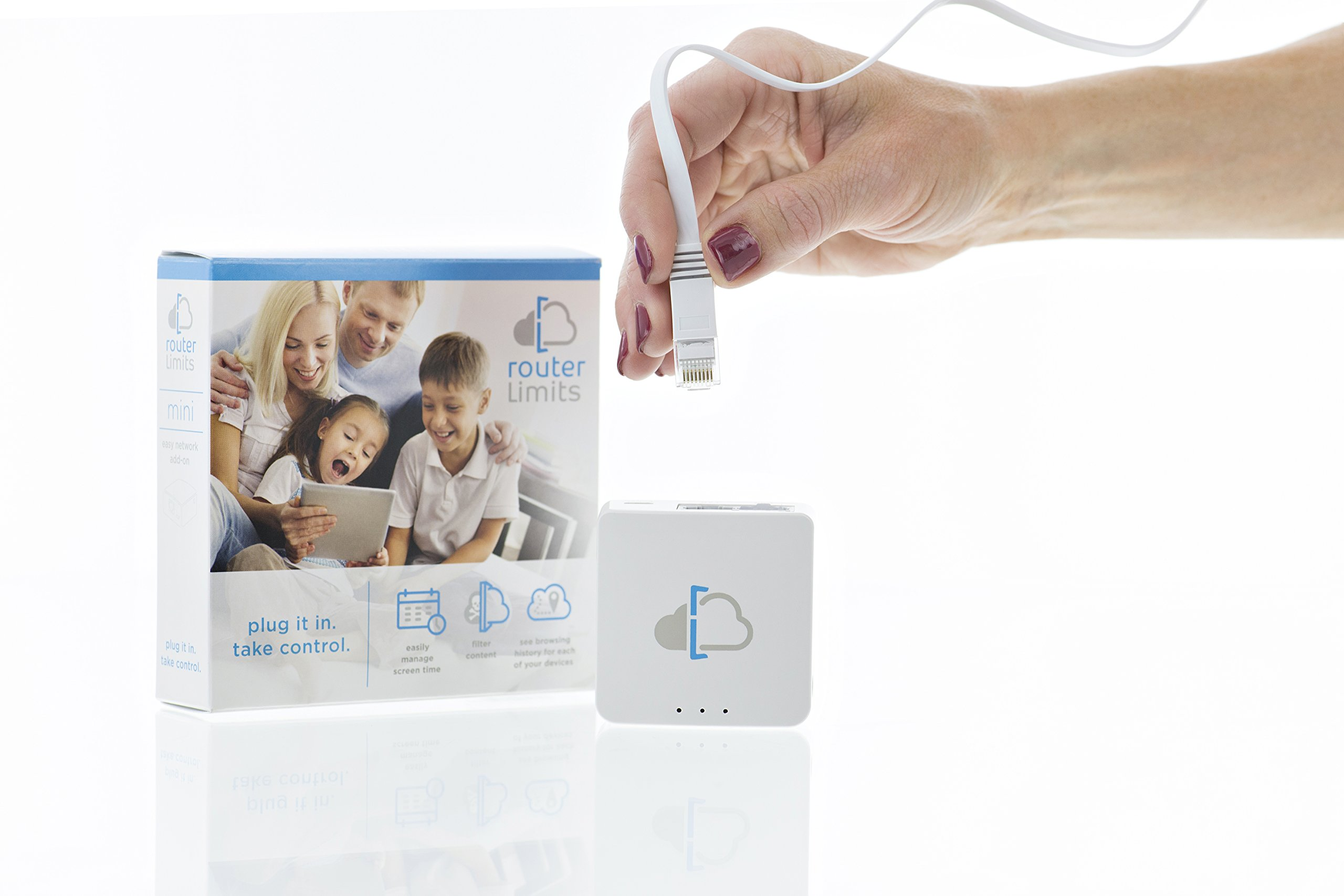 Router Limits cloud-based parental controls for internet safety from harmful content and managing screen time (Mini)