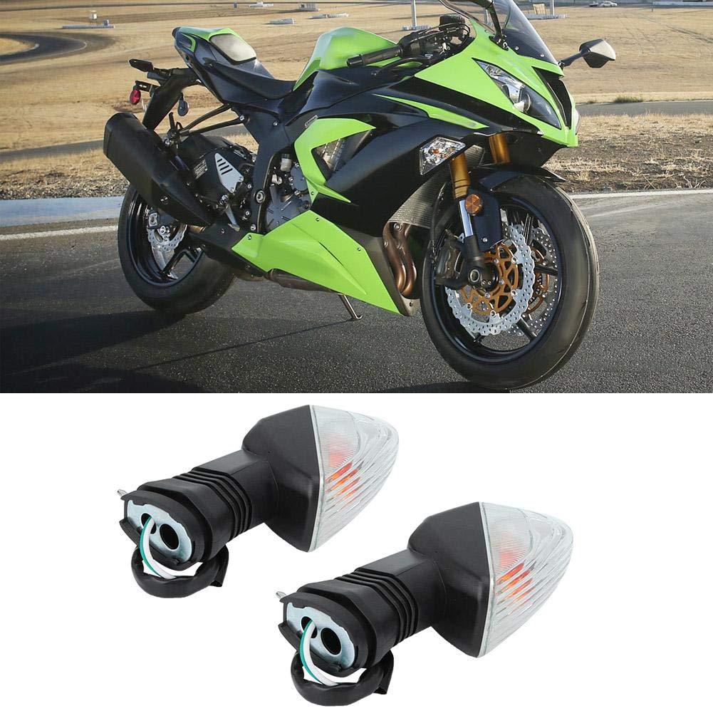 Duokon 2PCS Luz de se/ñal de giro Motocicleta L/ámpara de se/ñal de giro Accesorios para NINJA ZX-6R 600,1997-2006 negro y amarillo