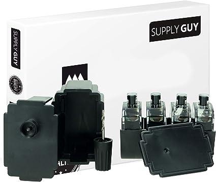 Imagen deSupplyGuy Kit Recarga Compatible con Canon PG-545 Cartuchos - 4X Nero - Incl. Accesorios para el llenado fácil y Limpio de los Cartuchos PG545