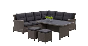 Rattan lounge  Amazon.de: Hohe Dining Poly Rattan Lounge