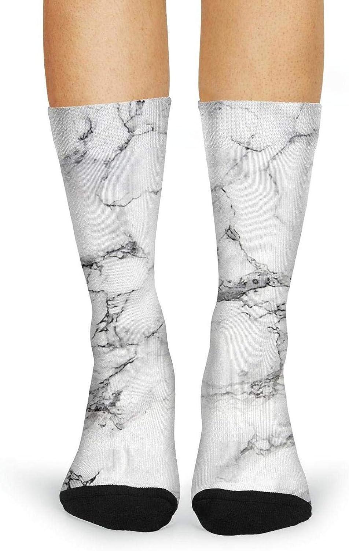 XIdan-die Womens Over-the-Calf Tube Socks Marble pattern Moisture Wicking Casual Socks