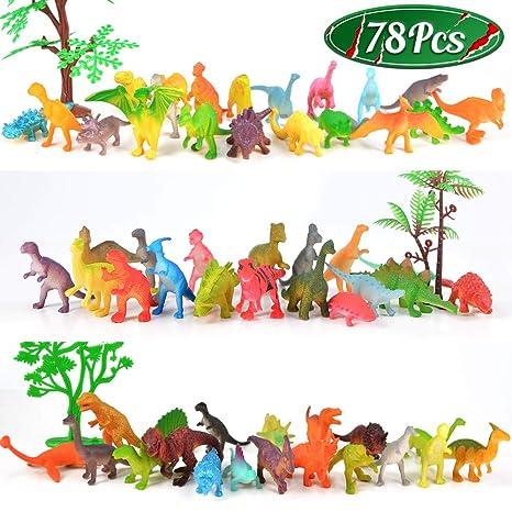 Amazon.com: MOMOTOYS - Juego de figuras de dinosaurio para ...