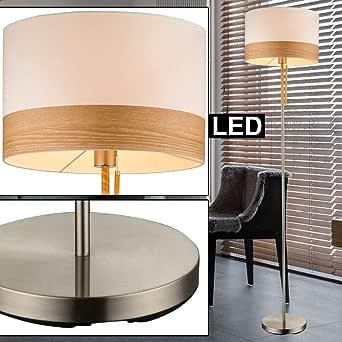 Lámpara de pie pantalla para lámpara (tela de lámpara de pie estera en lavado eléctrica techo en serie incl. lámparas LED: Amazon.es: Iluminación