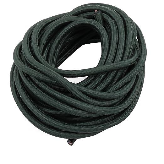 sourcing map Cable para lámpara de mesa cable trenzado línea verde ...