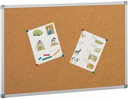 Mampara tablero de corcho con 2 bases y soportes aluminio: Amazon.es: Oficina y papelería