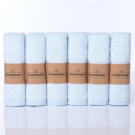 """Storeofbaby Toallitas para bebés Toallas reutilizables ecológicas de fibra de bambú 6 paquete de 10"""""""