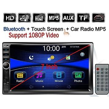 "regetek doble DIN coche Radio estéreo, 7 ""in-dash 1080P Pantalla táctil"