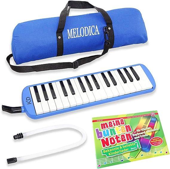 Keepdrum - Melódica azul de 32 teclas para instrumentos ...