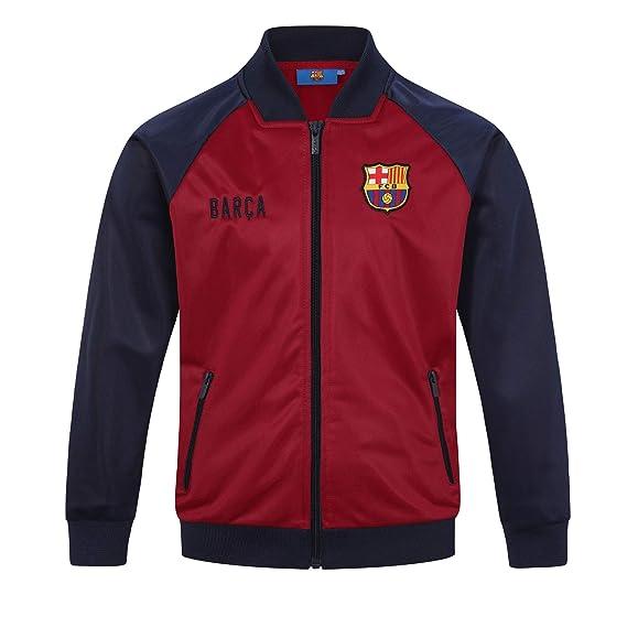Fc Barcelona Jungen Trainingsjacke Im Retro Design Offizielles Merchandise Geschenk Fur Fussballfans