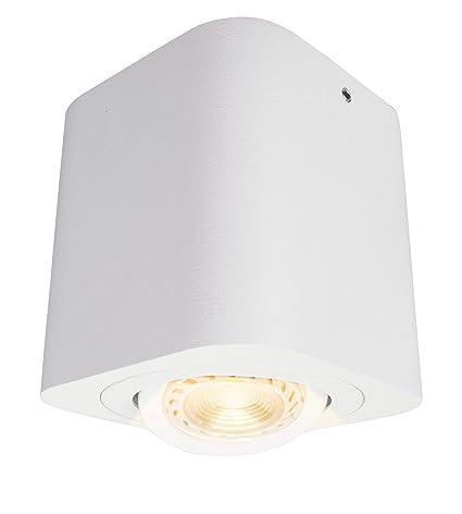 Budbuddy Focos para el techo LED lamparas de techo led Luces de Techo Plafón Focos de techo Lamparas con focos casquillo GU10 230V【incluye 6W ...
