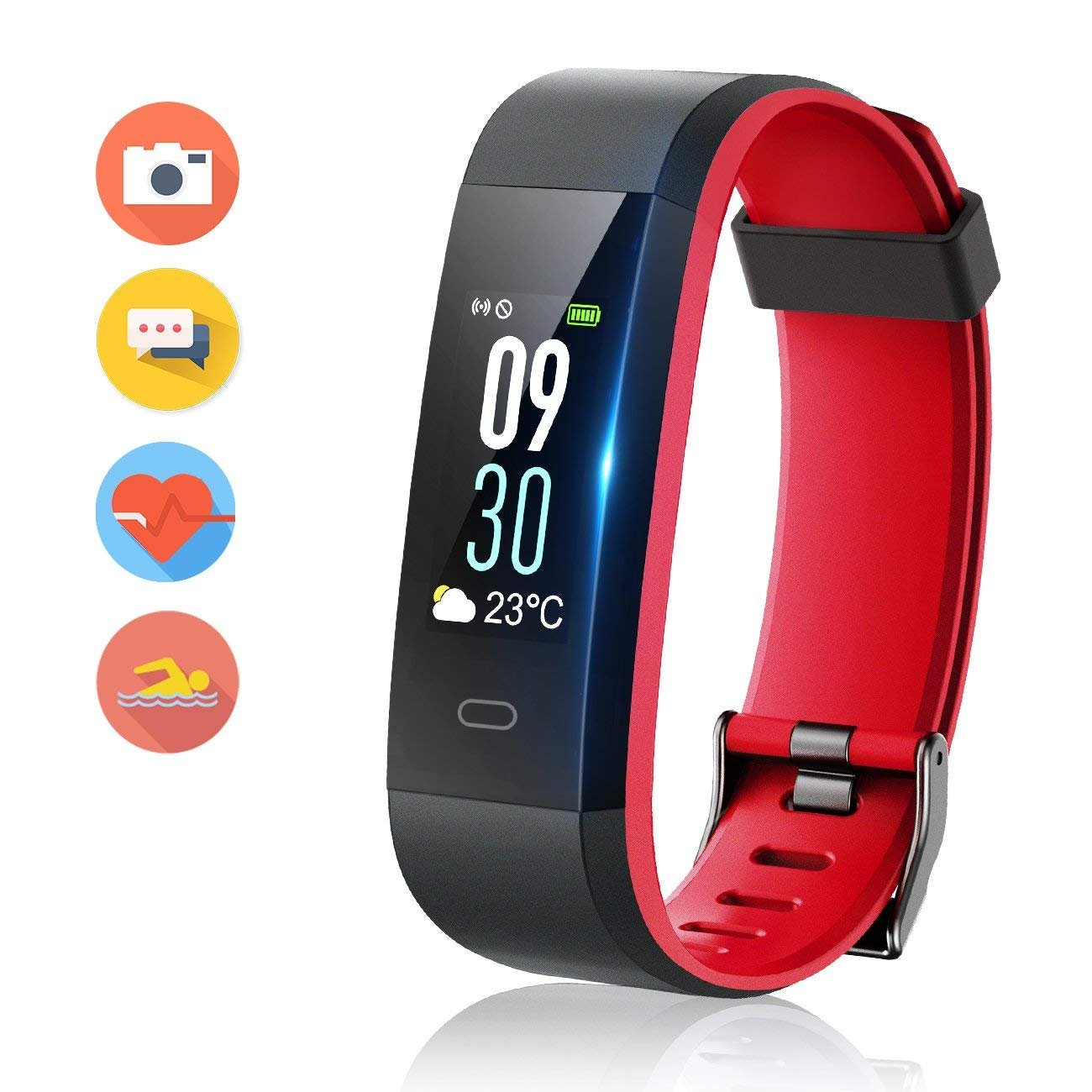 Vigorun Fitness Tracker Color Screen, Activity Tracker with Heart Rate Monitor Watch, IP68 Waterproof, Sleep Monitor, Step Calorie Counter, Pedometer Wristband for Women Men Kids by Vigorun