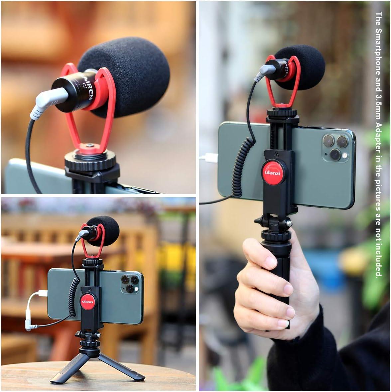 Universal Phone Tripod Mount Shotgun Video Microphone ULANZI Smartphone Video Kit Vlogging Setup YouTube Equipment for iPhone 11 Pro Max XS 8 Samsung Google OnePlus Mini Tripod