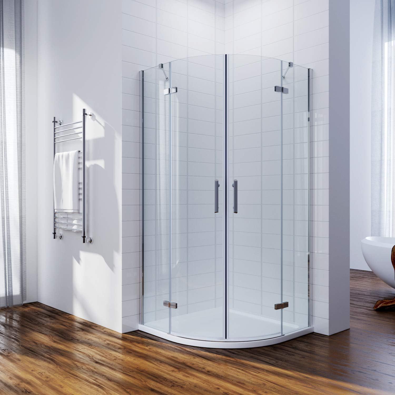 ELEGANT 900 x 900mm Quadrant Shower Enclosure Pivot Hinge 6mm Glass Shower Cubicle Door