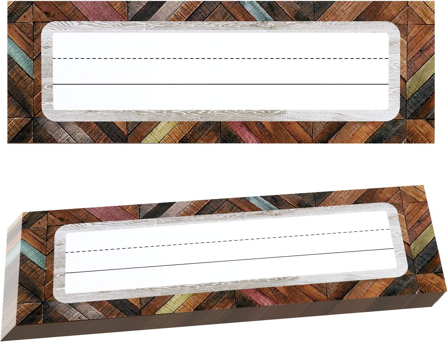 50 Pieces Wood Name Tags Home Sweet Classroom Name Plates Industrial Chic Shiplap Nameplates for Students Teachers School Classroom Supplies