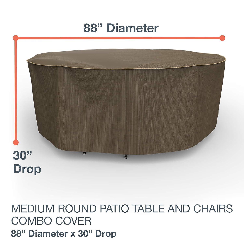 Awe Inspiring Amazon Com Neverwet Platinum Round Patio Table And Chairs Machost Co Dining Chair Design Ideas Machostcouk
