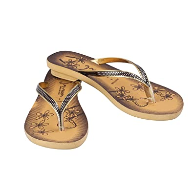 3a9b411d49fd9 Birde PU Brown Slippers for Women   Girls  Buy Online at Low Prices in  India - Amazon.in