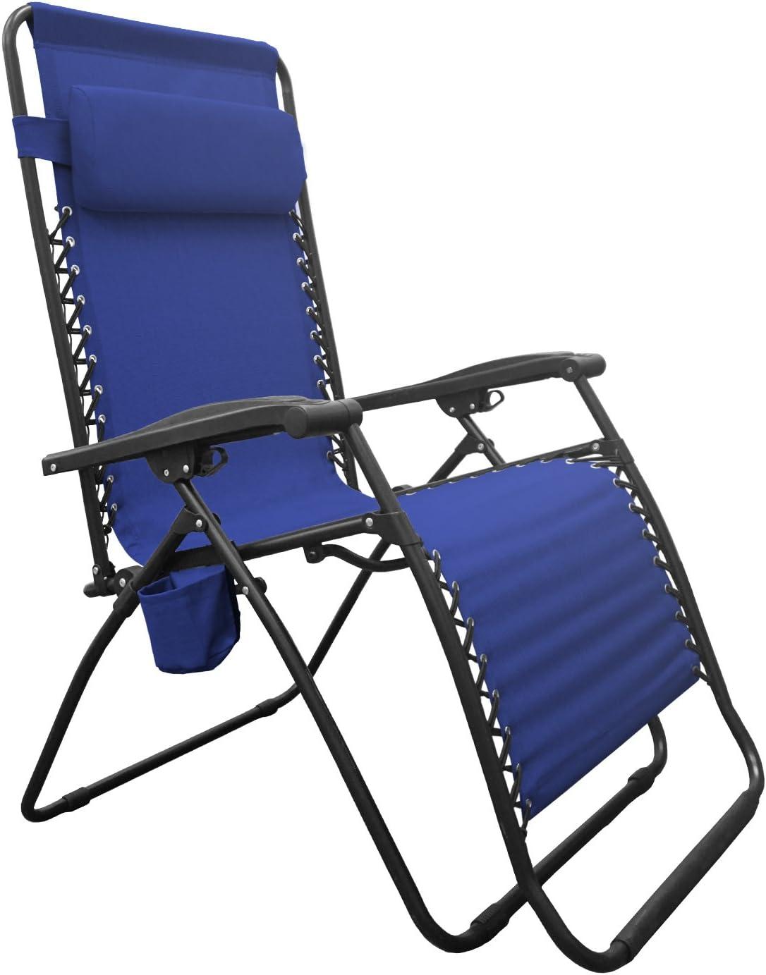 Caravan Sports BGC01021 Infinity Big Boy Zero Gravity, Blue Lounge Chair
