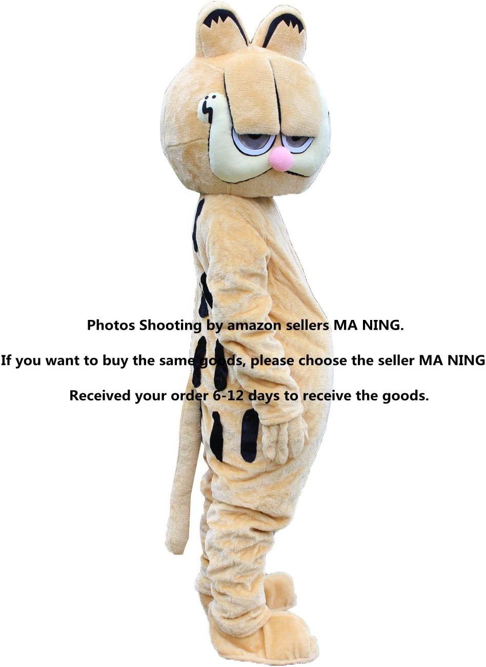 New Garfield Adult Mascot Costume Fancy Dress Eva Material Amazon Co Uk Sports Outdoors