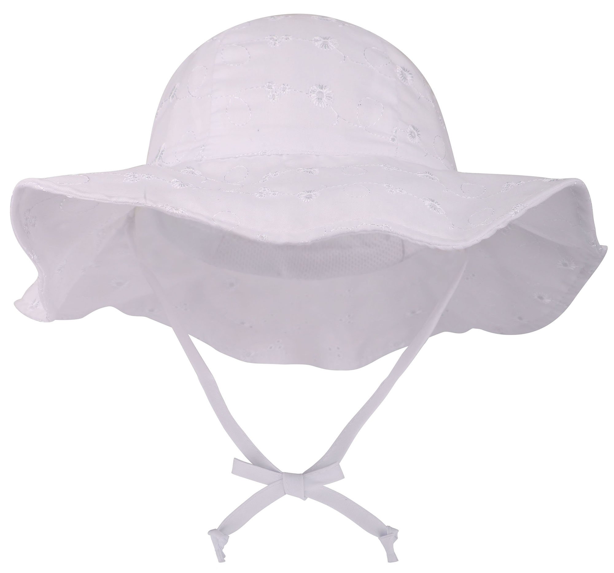 SimpliKids UPF 50+ UV Sun Protection Wide Brim Baby Sun Hat,White #2,0-12 Months by SimpliKids