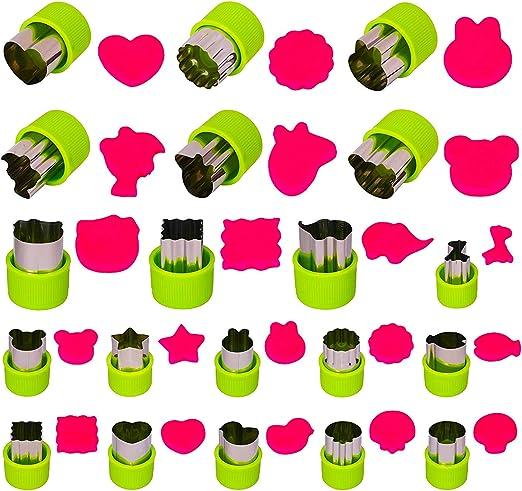 Cookie joyoldelf 30 Moldes para Galletas Moldes Galletas Acero Inoxidable para Pastel Fondant Verde