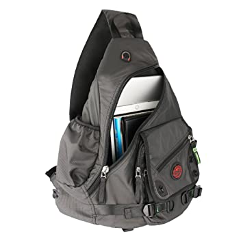 Amazon.com: Kawei Knight Large Sling Bag Laptop Backpack Cross ...