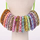 cuhair 10pcs Assorted Thick TPU tel Hair Bands, Simply top elastic Hair Ties Ponytail Holders Headband Scrunchies Hair Accessories,mix color