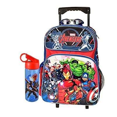 "hot sale 2017 Marvel Avengers Large 16"" Combo Rolling Backpack"
