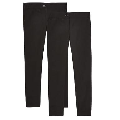 Debenhams Kids 2 Pack Boys/' Grey Slim Fit Trousers