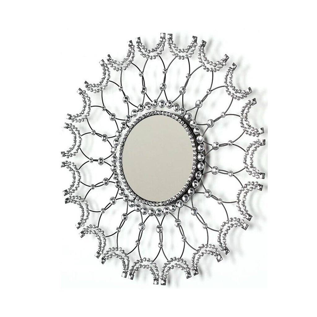 Big Decorative Framed Round Wall Mounted Mirror Classic Vintage Baroque Design 0520A