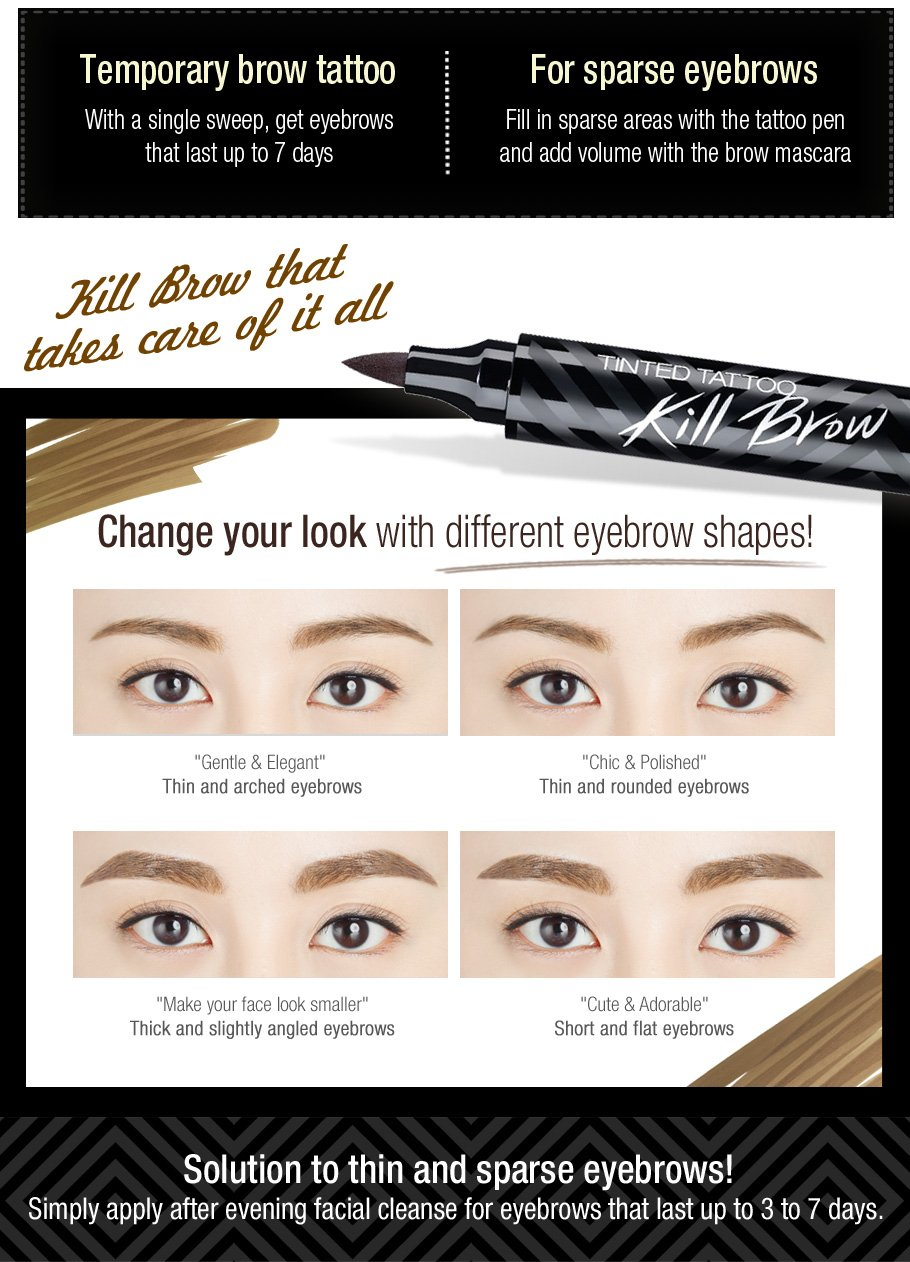 Amazon Clio Tinted Tattoo Kill Brow 002 Special Makeup Set