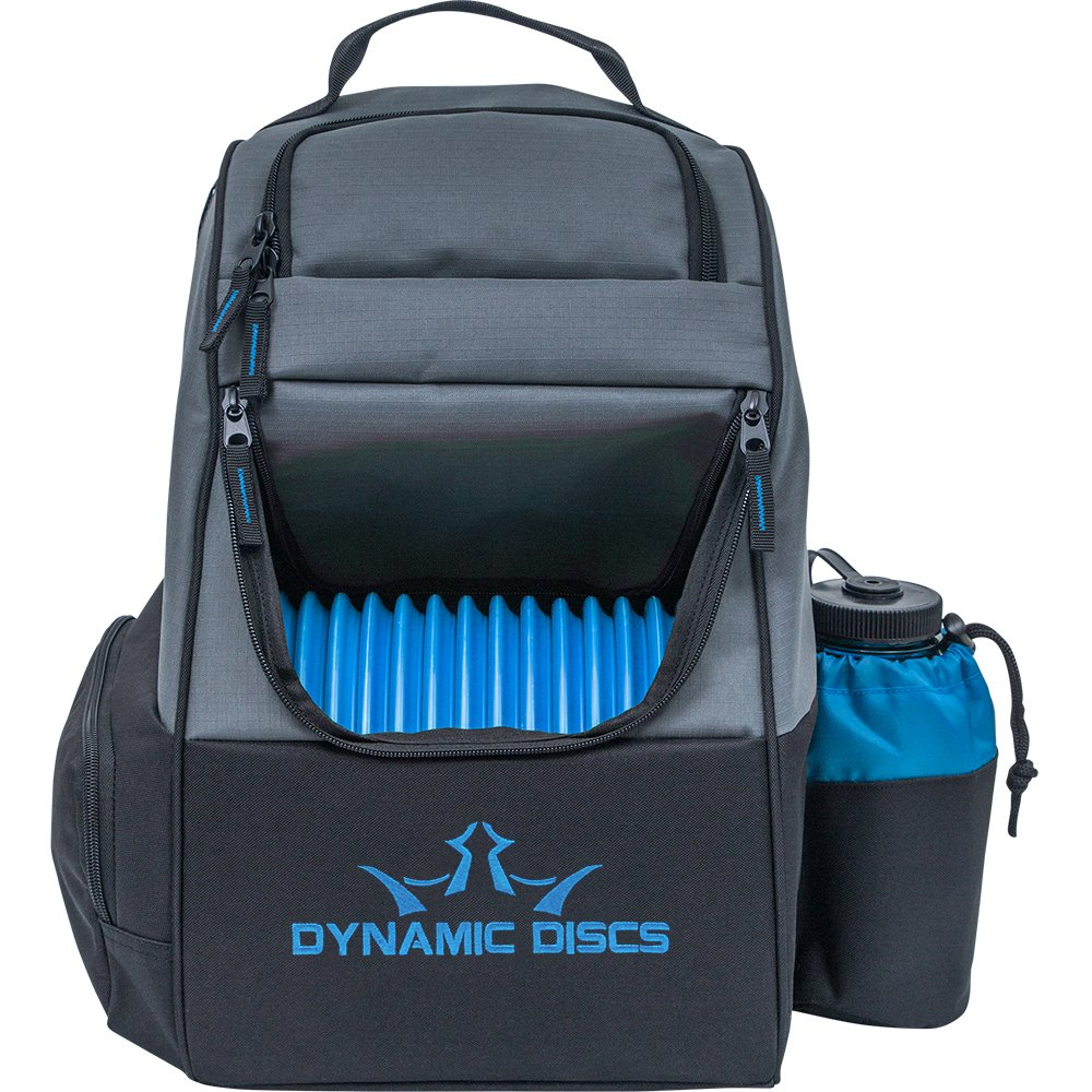 Dynamic Discs Trooper Backpack Disc Golf Bag - Gray/Blue by Dynamic Discs