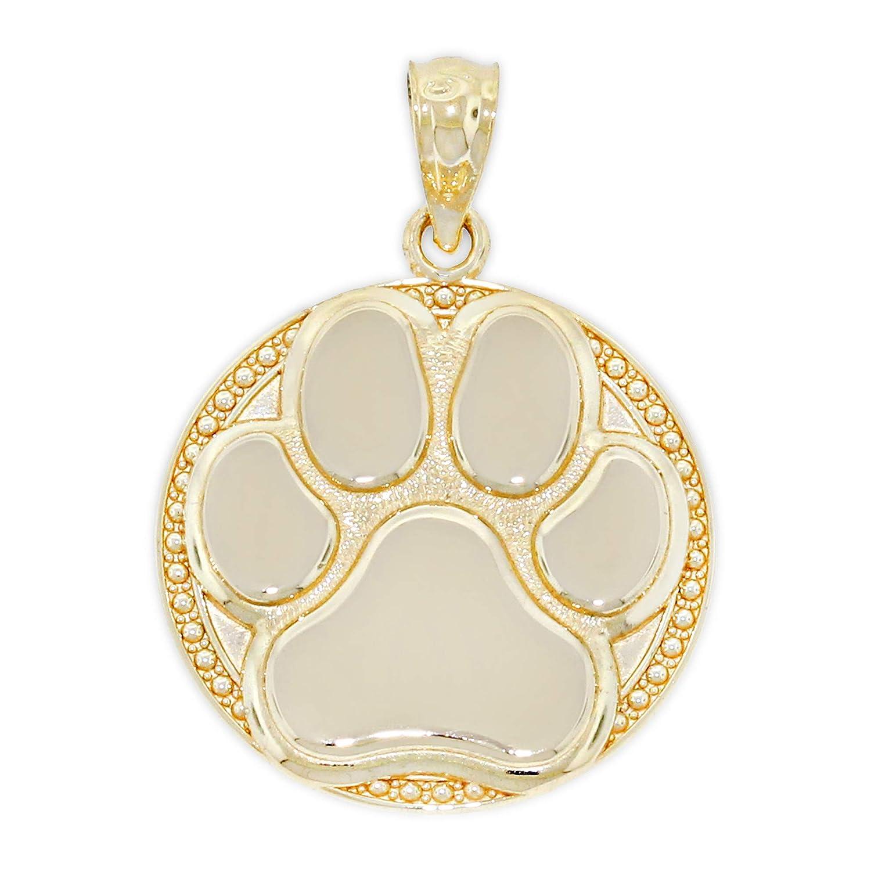 Gold Dog Paw Charm 14 Karat Solid Gold Charm America