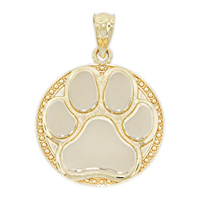 6819562e229a5 Charm America - Gold Dog Paw Charm - 14 Karat Solid Gold