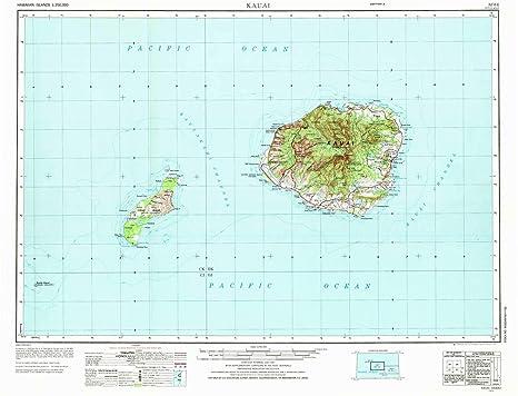 Amazon Com Yellowmaps Kauai Hi Topo Map 1 250000 Scale 1 X 2